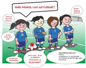 Mädchenfußball in der JSG Geest
